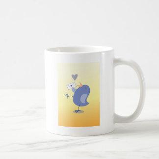 Niedlicher kleiner Tweeter-Vogel mit einem Tasse