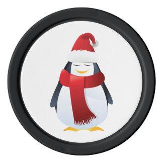 Niedlicher kleiner WeihnachtsPenguin Poker Chip Set