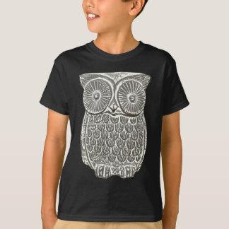 Niedlicher kluger grauer Eulen-T - Shirt