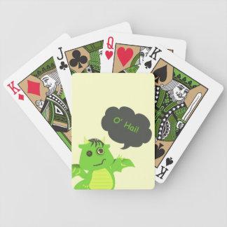 Niedlicher Knopf-mit Augen Zombie-Drache Bicycle Spielkarten