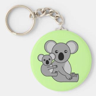 Niedlicher Koala-Bär und Baby Schlüsselanhänger