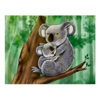 Niedlicher Koala und Baby Postkarte