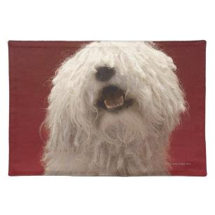 Niedlicher Komondor Hund Stofftischset