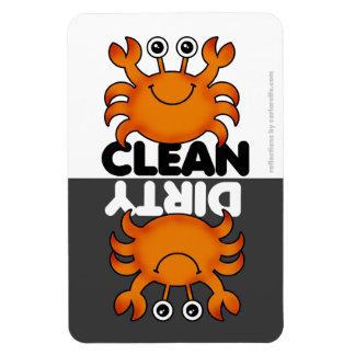 Niedlicher Krabben-Spülmaschinen-Magnet Vinyl Magnet