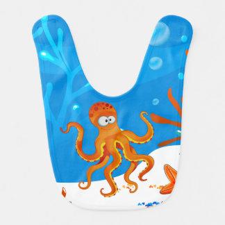 Niedlicher Kraken-Ozean-Wasserbaby-Schellfisch Babylätzchen