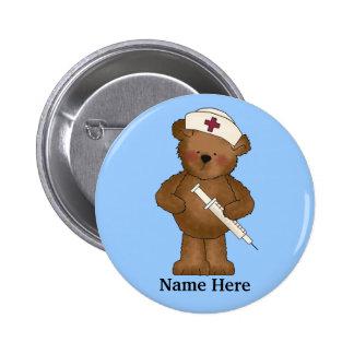 Niedlicher Krankenschwester-Bärn-Knopf Runder Button 5,7 Cm