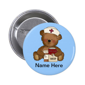 Niedlicher Krankenschwester-Knopf Runder Button 5,7 Cm