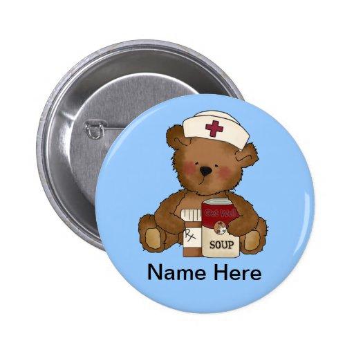 Niedlicher Krankenschwester-Knopf Button