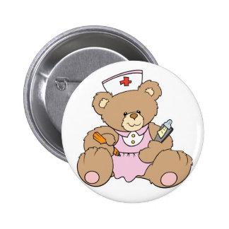 Niedlicher Krankenschwester RN-Bär Runder Button 5,1 Cm