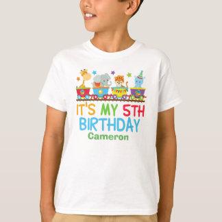 Niedlicher kundenspezifischer Zirkus-Tier-Zug-5. T-Shirt