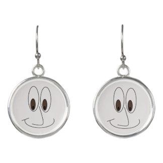 Niedlicher lächelnder Gesichts-Druck Ohrringe