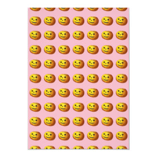 Niedlicher lächelnder Kürbislaterne-Kürbis Karte