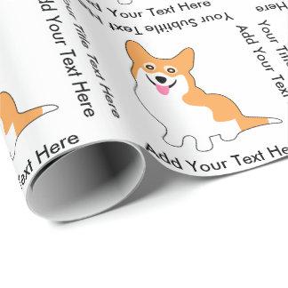 Niedlicher lächelnder Pembroke-Walisercorgi-Hund Geschenkpapier