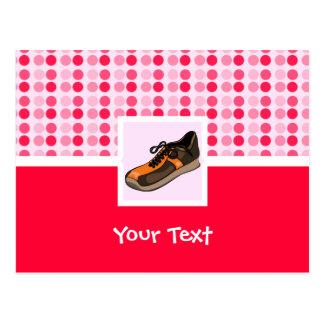 Niedlicher laufender Schuh Postkarte