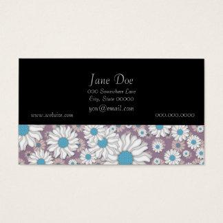Niedlicher Lavendel-weiße blaue Visitenkarte