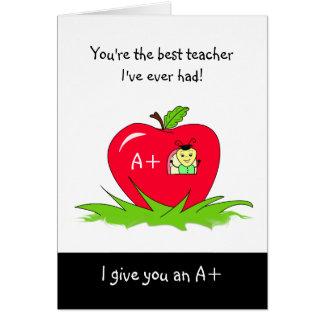 Niedlicher Lehrer-Anerkennungs-Tag Apple für Grußkarte