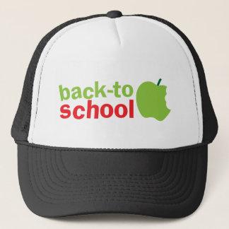 Niedlicher Lehrerentwurf des Zurück zu-School mit Truckerkappe
