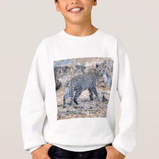 Niedlicher Leopard CUB in Bewegung Sweatshirt