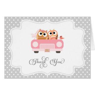 Niedlicher Liebe-Vogel danken Ihnen zu kardieren Mitteilungskarte