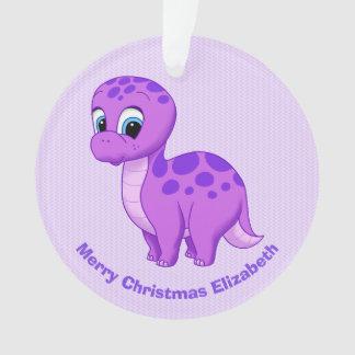 Niedlicher lila Babybrontosaurus-Dinosaurier Ornament