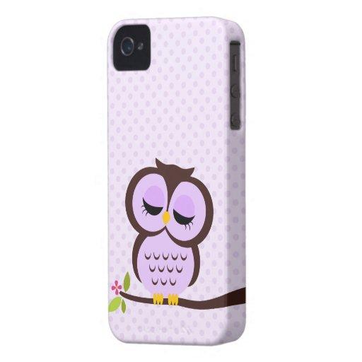 Niedlicher lila Eulen-Kasten für das iPhone 4 iPhone 4 Cover