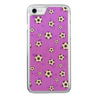 Niedlicher lila Fußball-Stern Carved iPhone 8/7 Hülle