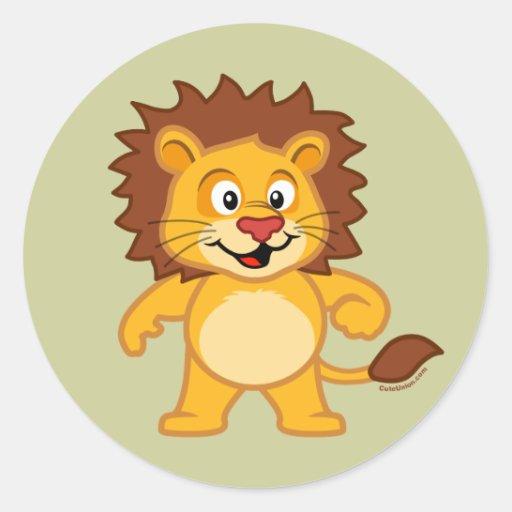 Niedlicher Löwe Stickers