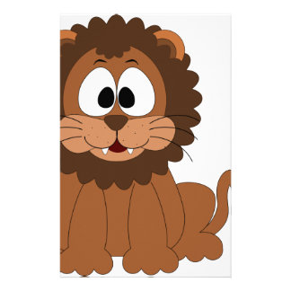 Niedlicher Löwe-Entwurf Briefpapier