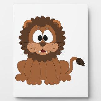 Niedlicher Löwe-Entwurf Fotoplatte