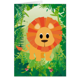 Niedlicher Löwe Karte