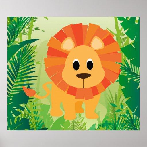 Niedlicher Löwe Plakate