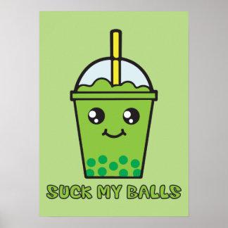 Niedlicher lustiger Blasen-Tee-Spaß - sind zum Poster