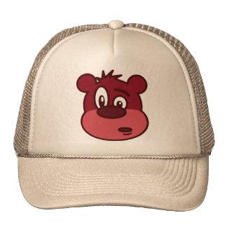 Niedlicher lustiger blinzelnder Bär Tuckercaps