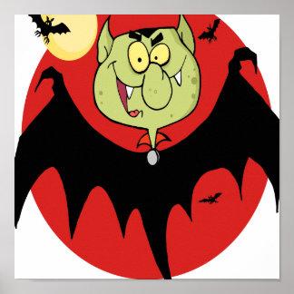niedlicher lustiger Cartoon Vampireschlägercharakt Plakate