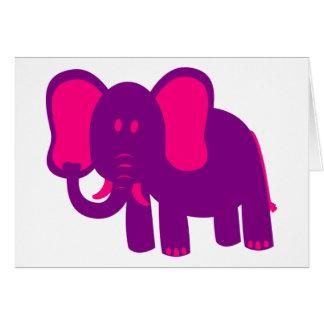 Niedlicher lustiger Elefant Grußkarte