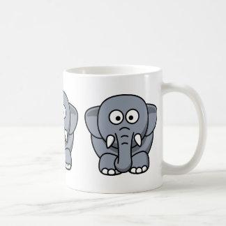 Niedlicher lustiger Elefant Tee Tasse