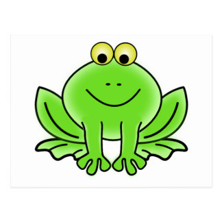 Niedlicher lustiger Frosch Postkarte