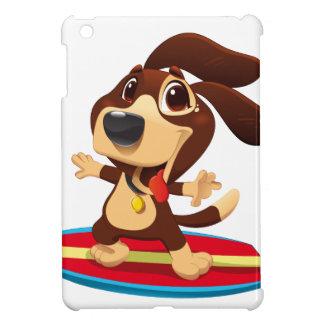 Niedlicher lustiger Hund auf einer iPad Mini Hülle