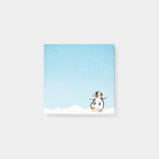Niedlicher lustiger Penguin-Winter - Posten-it® Post-it Klebezettel
