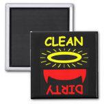 Niedlicher lustiger sauberer schmutziger Spülmasch Kühlschrankmagnete