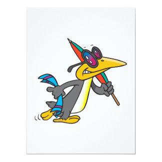 niedlicher lustiger Strand Penguin-Cartoon Ankündigungen