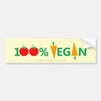 Niedlicher lustiger veganer Autoaufkleber