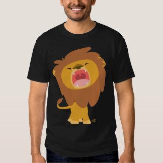 Niedlicher mächtiger Brüllenlöwe-Cartoon-T - Shirt