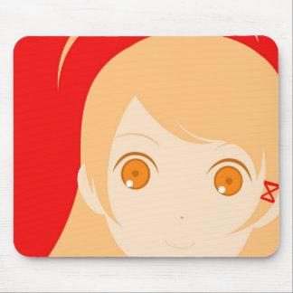 Niedlicher Mädchen-Vektor Mousepad