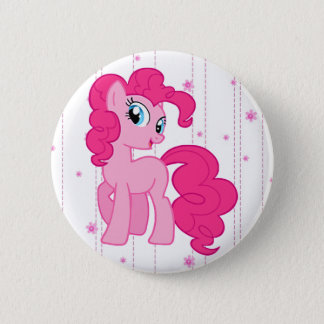 Niedlicher magischer rosa Pony-Knopf Runder Button 5,1 Cm
