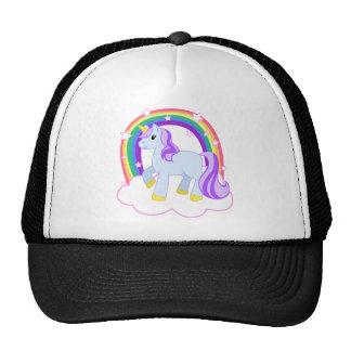 Niedlicher magischer Unicorn mit dem Regenbogen Caps