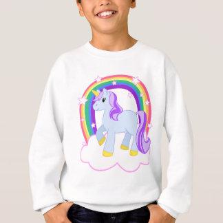 Niedlicher magischer Unicorn mit dem Regenbogen Sweatshirt