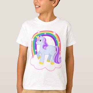 Niedlicher magischer Unicorn mit dem Regenbogen T-Shirt