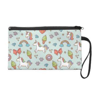 Niedlicher magischer Unicorn Wristlet Handtasche