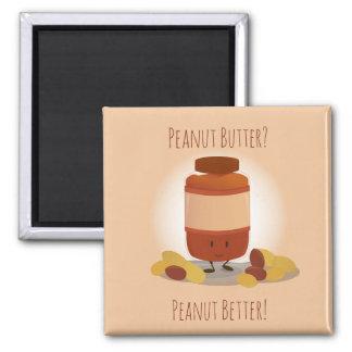 Niedlicher Magnet des Erdnussbutter-Glas-| Quadratischer Magnet